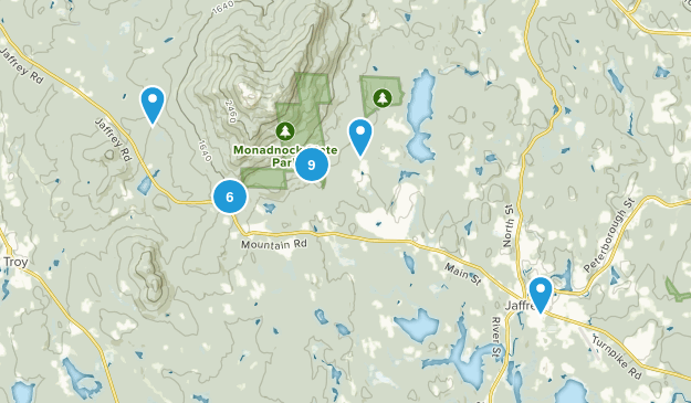 Jaffrey, New Hampshire Forest Map