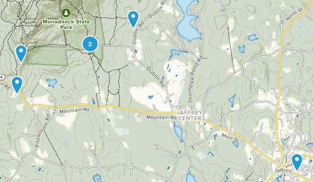 Jaffrey, New Hampshire Kid Friendly Map