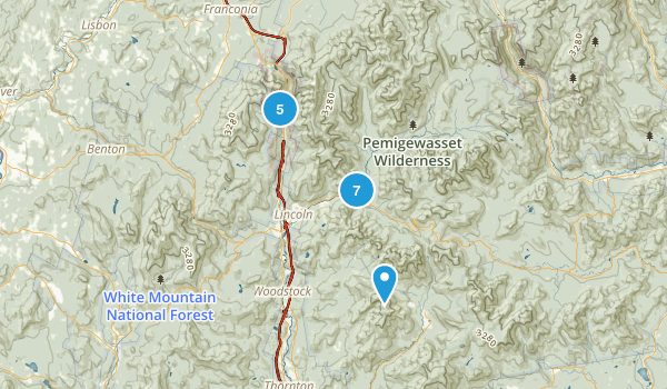 Lincoln, New Hampshire Backpacking Map