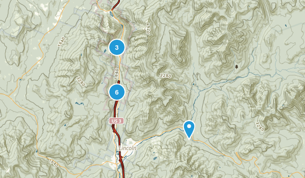 Lincoln, New Hampshire Snowshoeing Map