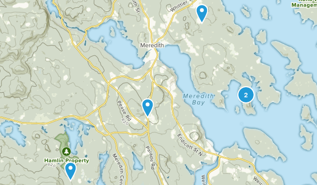 Meredith, New Hampshire Hiking Map