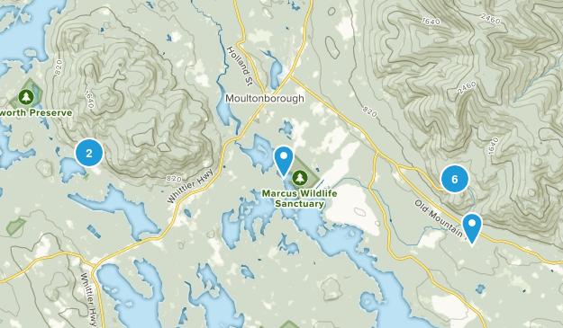 Moultonborough, New Hampshire Hiking Map