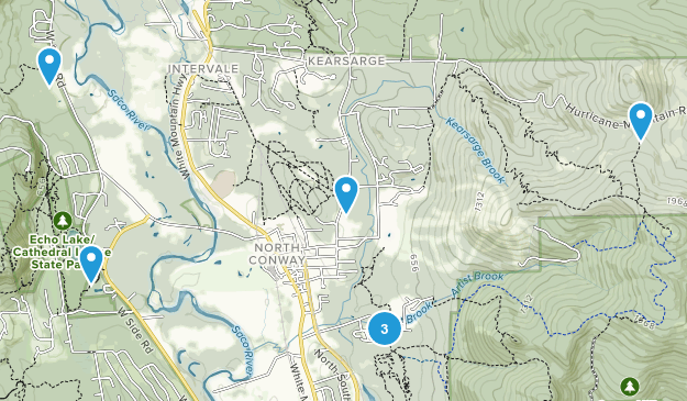 North Conway, New Hampshire Forest Map