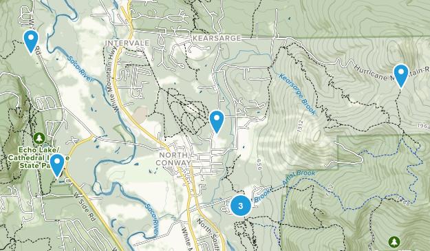North Conway, New Hampshire Walking Map