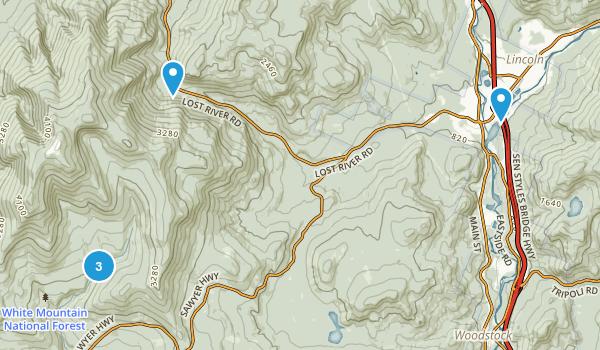 North Woodstock, New Hampshire Birding Map