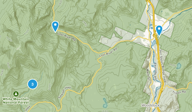 North Woodstock, New Hampshire Birding Map