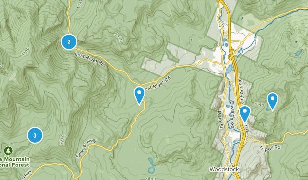 North Woodstock, New Hampshire Hiking Map