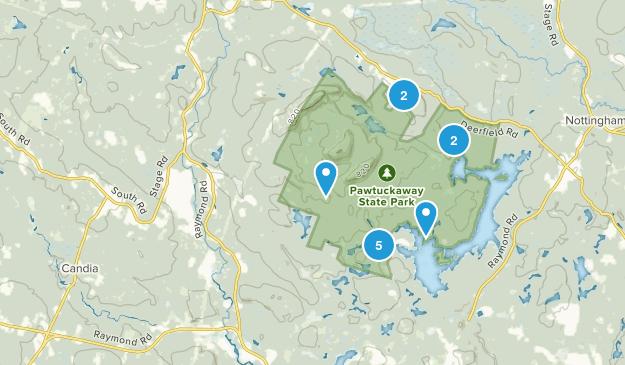 Nottingham, New Hampshire Dogs On Leash Map