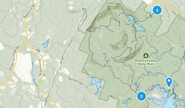 Nottingham, New Hampshire Lake Map