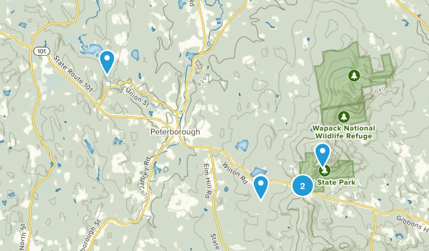 Peterborough, New Hampshire Dogs On Leash Map