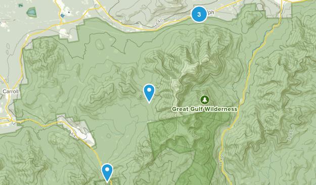 Randolph, New Hampshire Camping Map
