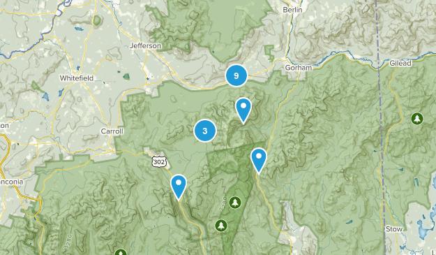 Randolph, New Hampshire Hiking Map
