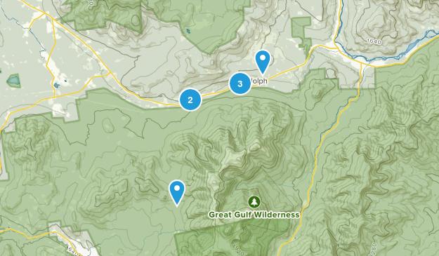 Randolph, New Hampshire Trail Running Map
