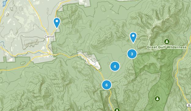 Twin Mountain, New Hampshire Hiking Map