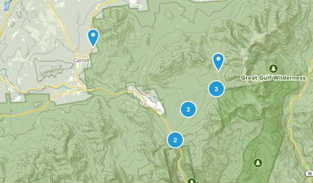 Twin Mountain, New Hampshire Nature Trips Map