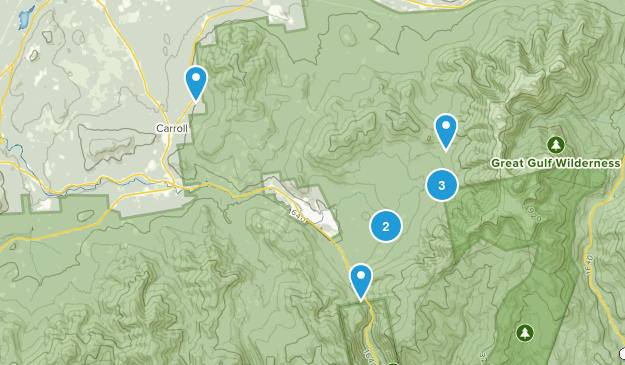 Twin Mountain, New Hampshire Walking Map