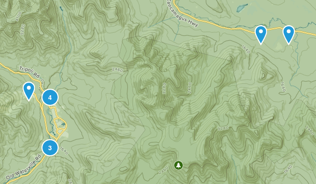 Waterville Valley, New Hampshire Hiking Map