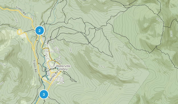 Waterville Valley, New Hampshire Nature Trips Map