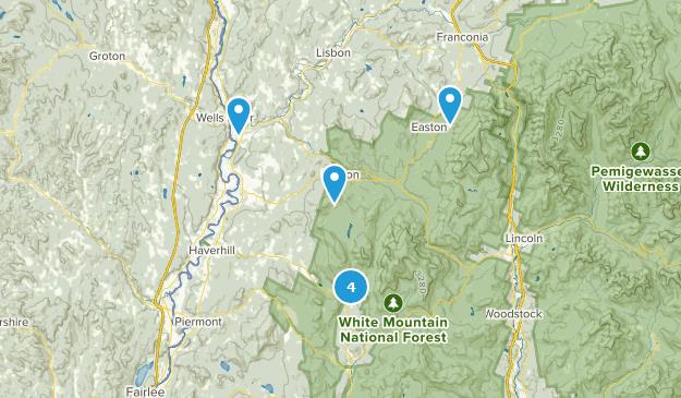 Woodsville, New Hampshire Hiking Map