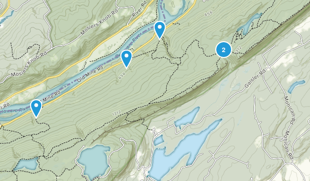 Blairstown, New Jersey Backpacking Map