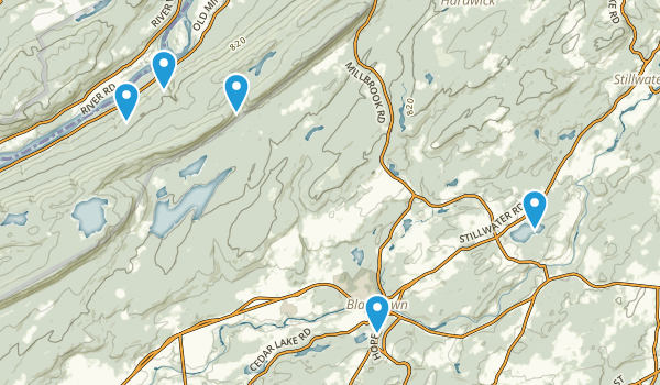 Blairstown, New Jersey Trail Running Map