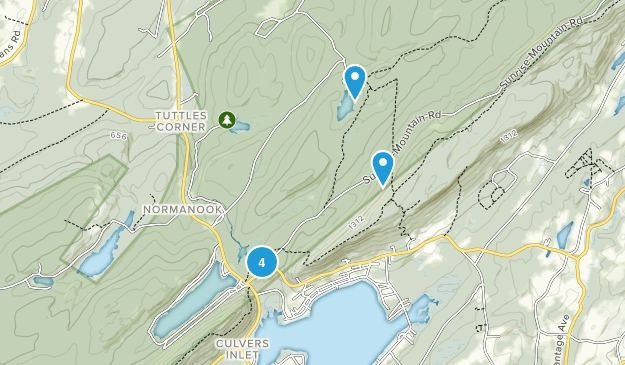 Branchville, New Jersey Camping Map