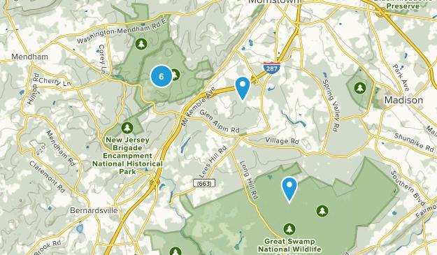 Harding, New Jersey Hiking Map