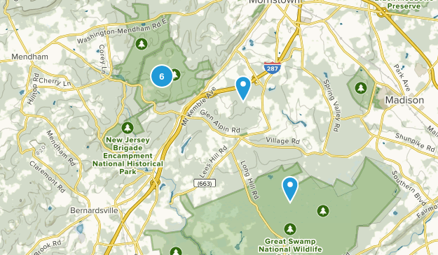 Harding, New Jersey Nature Trips Map