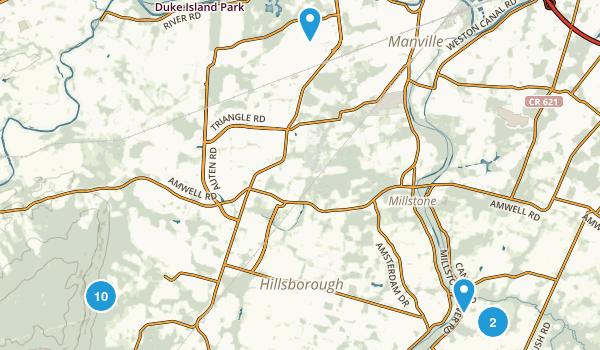 Hillsborough, New Jersey Hiking Map