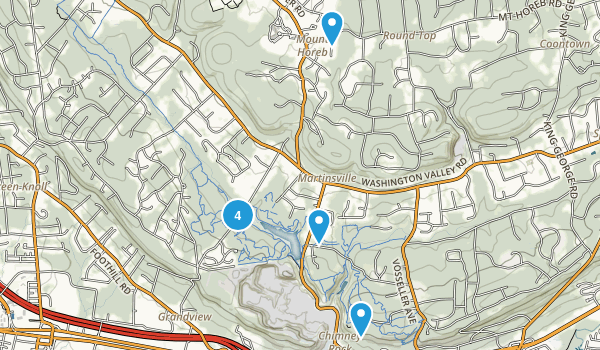 Martinsville, New Jersey Hiking Map