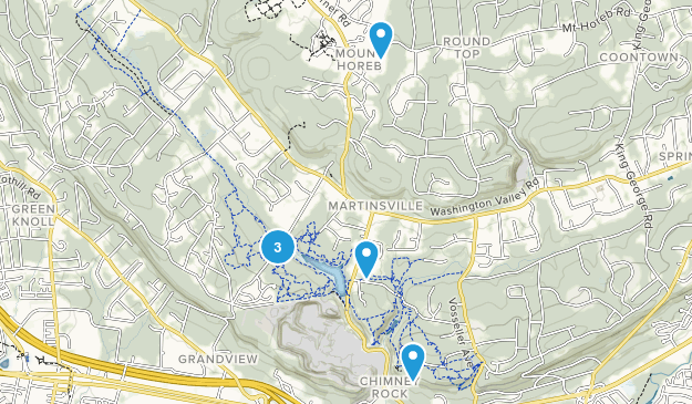 Martinsville, New Jersey Walking Map