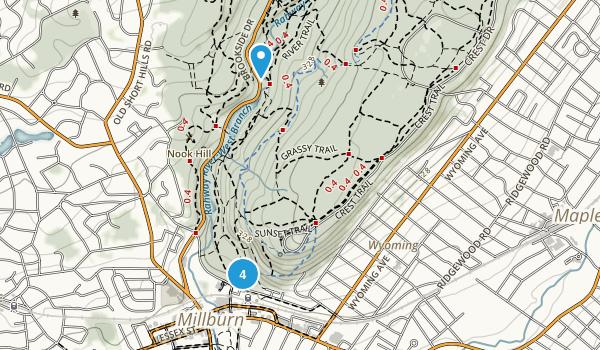 Millburn, New Jersey Forest Map