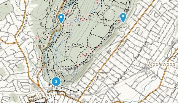 Millburn, New Jersey Trail Running Map