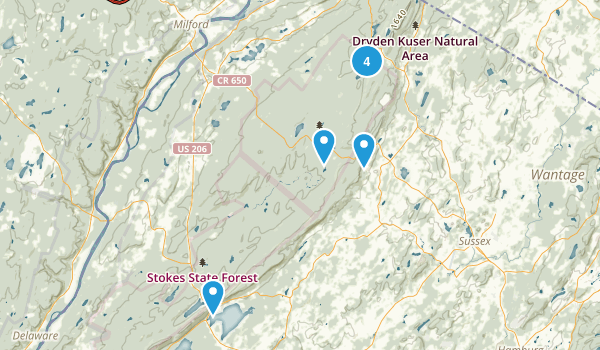 Montague, New Jersey Nature Trips Map
