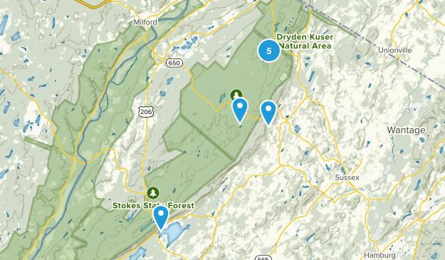 Montague, New Jersey Views Map