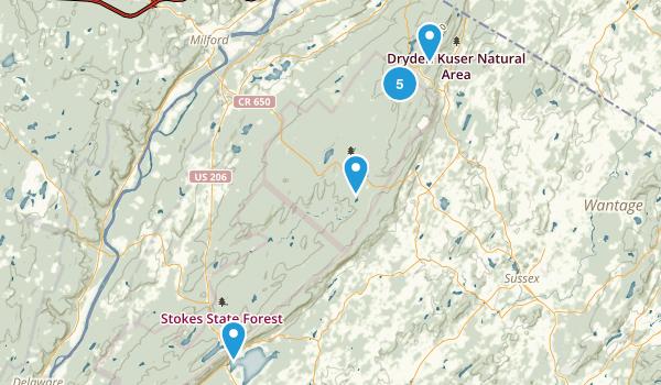 Montague, New Jersey Walking Map