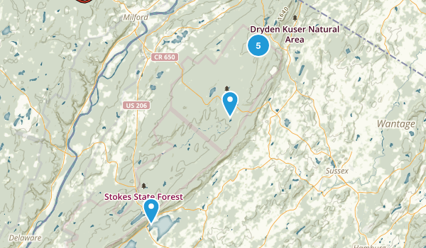 Montague, New Jersey Wild Flowers Map
