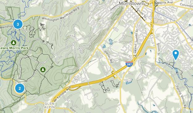 Morristown, New Jersey Birding Map