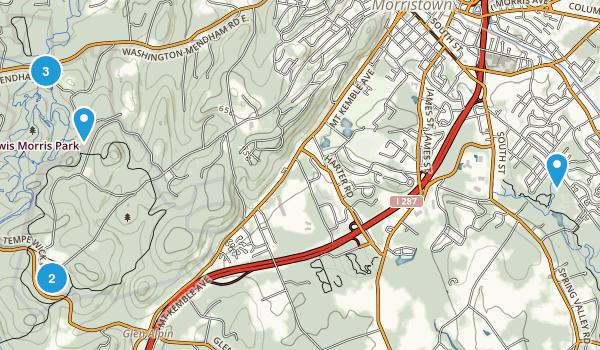 Morristown, New Jersey Walking Map