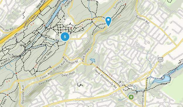 Mountainside, New Jersey Hiking Map
