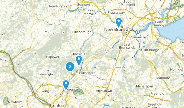 Princeton, New Jersey Trail Running Map