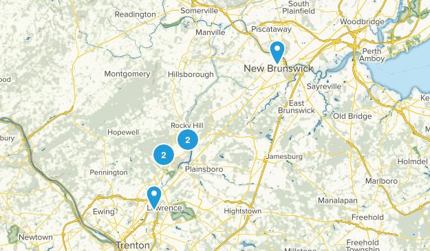 Princeton, New Jersey Walking Map