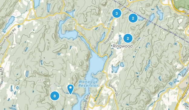 Ringwood, New Jersey Hiking Map