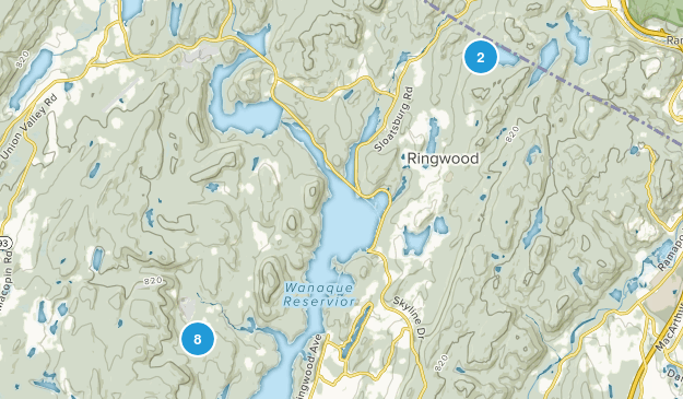 Ringwood, New Jersey Trail Running Map