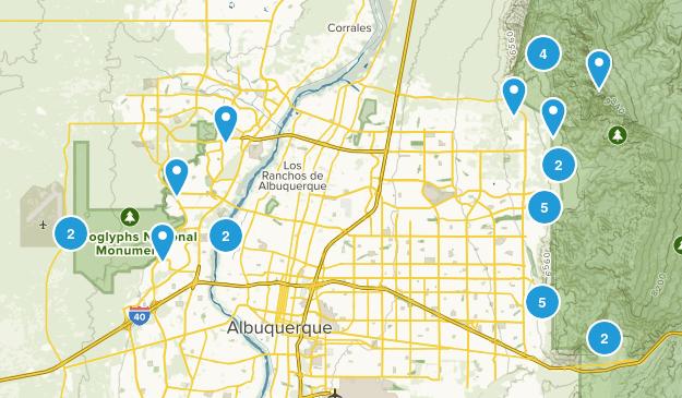 Albuquerque, New Mexico Birding Map