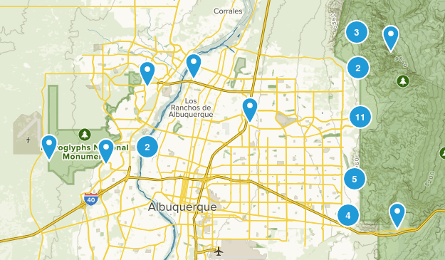 Albuquerque, New Mexico Dogs On Leash Map