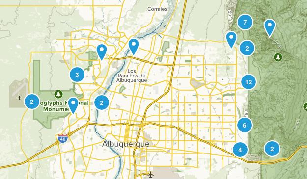 Albuquerque, New Mexico Hiking Map