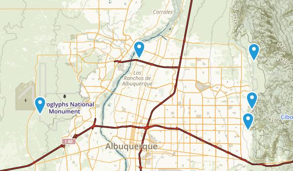 Albuquerque, New Mexico Horseback Riding Map