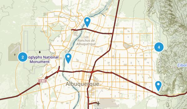 Albuquerque, New Mexico Mountain Biking Map