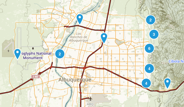 Albuquerque, New Mexico Trail Running Map